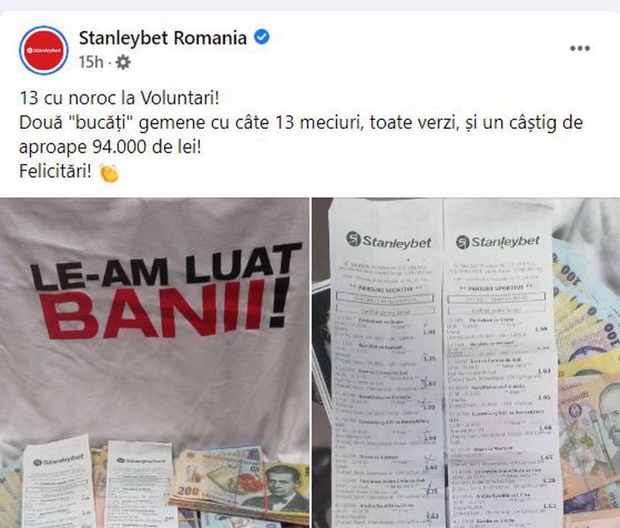 13 cu noroc! Un parior din România a dat lovitura: a pus mâna pe aproape 20.000 de euro la meciurile din preliminarii