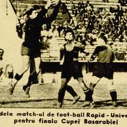Imagine din 1942, de la semifinala Cupei Basarabiei