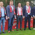 Șefii Nuevo Dinamo, singura poză în această ipostază, deja proiectul fiind pe cale de dispariție: Marcos Rubinio, Dorin Șerdean, Pablo Cortacero, Alex Couto și Rufo Collado