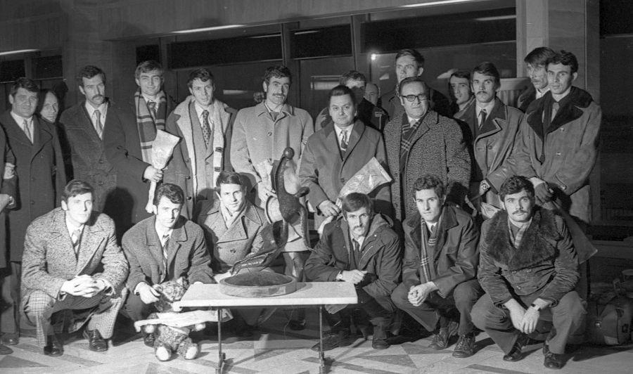 Naționala României de handbal în 1974, ultima care câștiga titlul mondial FOTO Gazeta Sporturilor