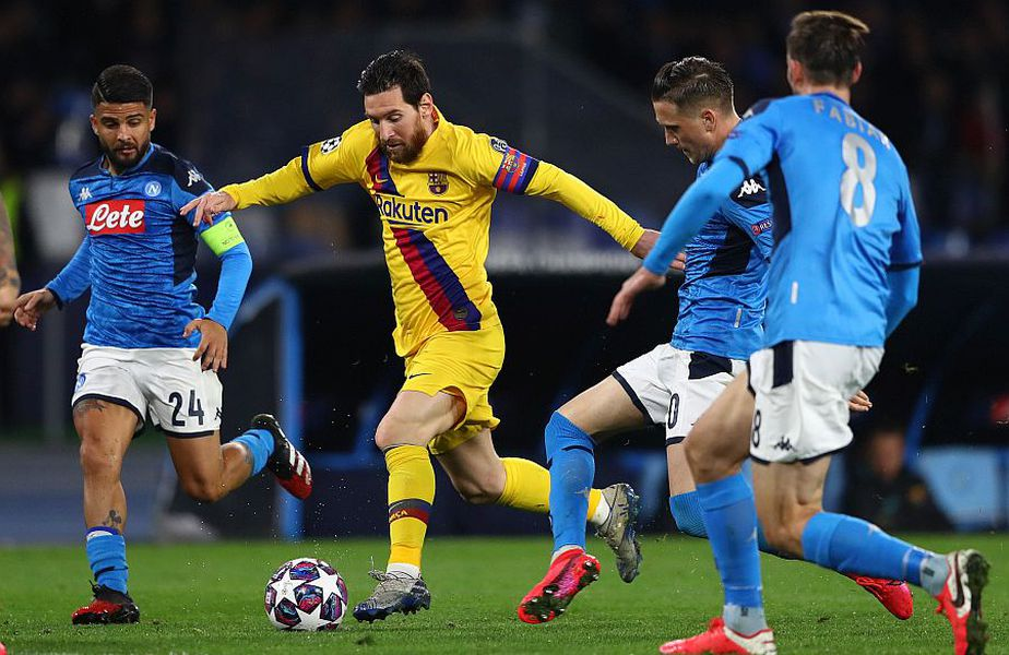 Barcelona și Napoli au remizat, 1-1, în turul optimilor Champions League // FOTO: Guliver/GettyImages