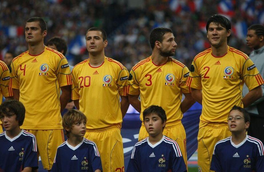 Răzvan Raț (numărul 3) are 113 selecții pentru naționala României