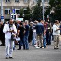 Imagini de la protestul anti-COVID19 din Piața Victoriei