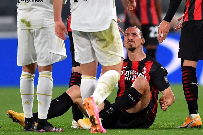 Zlatan, după momentul accidentării // Foto: Getty Images