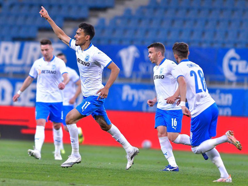 În minutul 11 al meciului CS Universitatea Craiova - CFR Cluj (derby-ul rundei #8 din play-off), Ștefan Baiaram a reușit un gol fantastic.