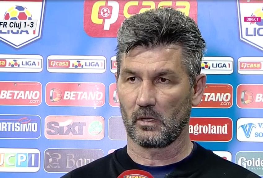 CFR Cluj a învins-o în deplasare pe CS Universitatea Craiova, scor 3-1, în cel mai tare meci al rundei #8 din play-off-ul Ligii 1. Marinos Ouzounidis, tehnicianul oltenilor, și-a criticat dur jucătorii la final.