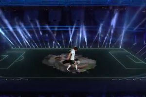 Imagini IMPRESIONANTE la Argentina - Chile: Maradona 3D pe gazon, apoi show Messi!