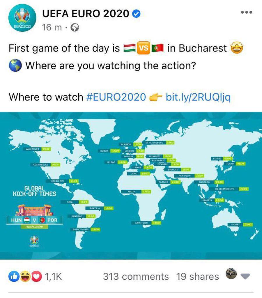 Ce gafă a UEFA, înainte de Ungaria - Portugalia! Românii s-au sesizat: sute de comentarii pe Facebook