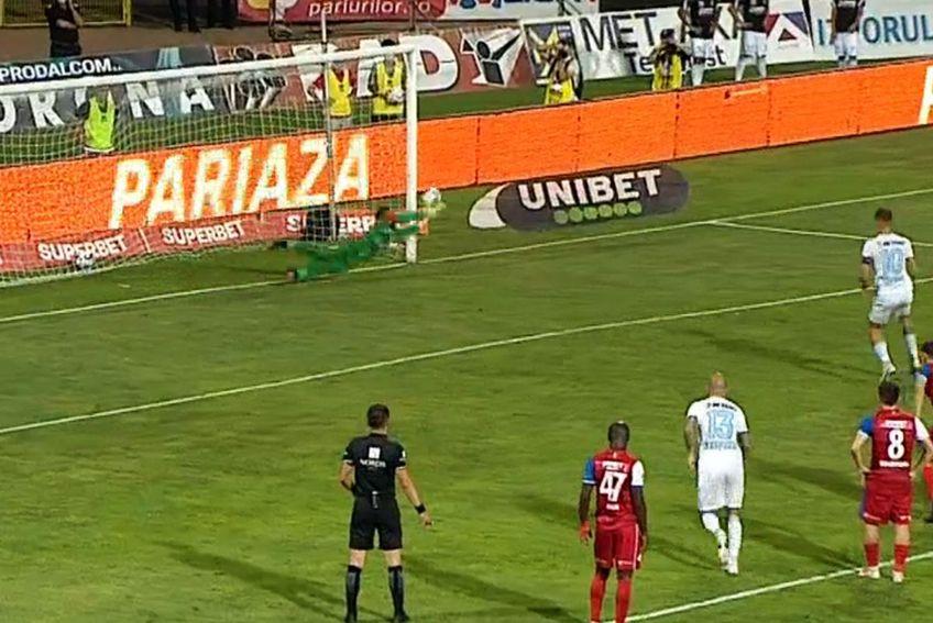 Eduard Pap a apărat penalty-ul lui Tănase / Captură Telekom Sport