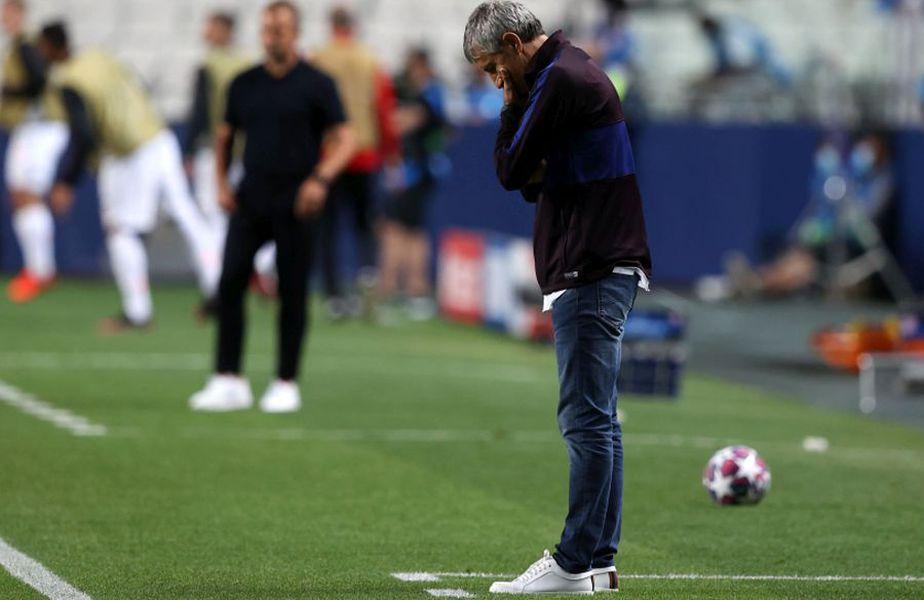 Quique Setien (foto) a fost demis de Barcelona după eșecul usturător cu Bayern // foto: Guliver/gettyimages