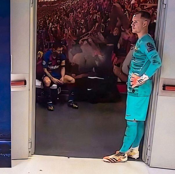 Imaginile neputinței! Leo Messi, DĂRÂMAT după umilința istorică din Champions League