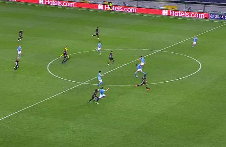Dembele a marcat după un duel cu Laporte // FOTO: Captură TV Telekom Sport