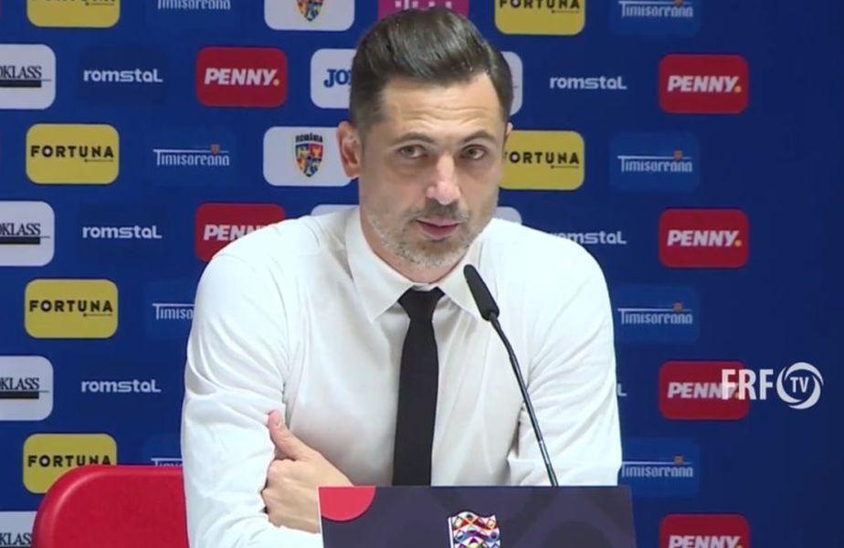 Selecționerul Mirel Rădoi (39 de ani) a oferit o replică după declarațiile date de Dan Petrescu (52 de ani) în direcția lui.