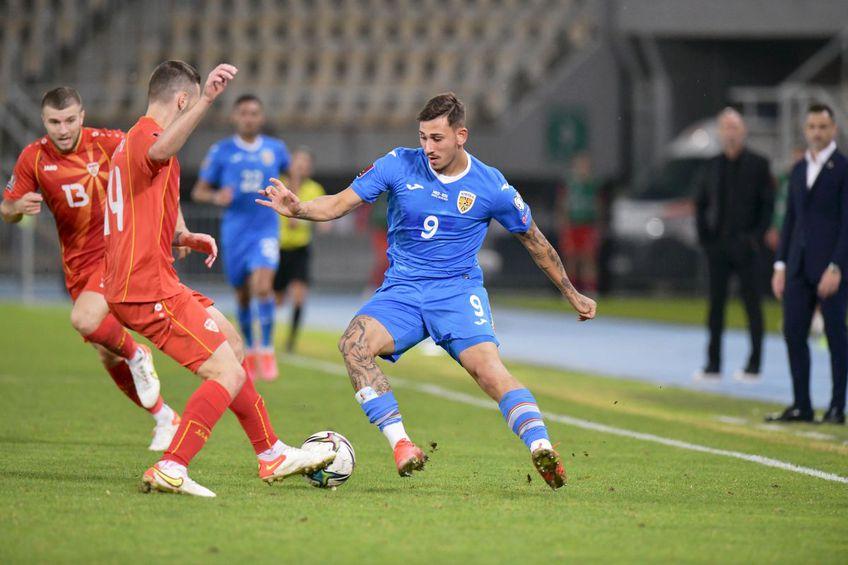 Jovan Markovic (#9), în meciul dintre Macedonia de Nord și România // foto: Cristi Preda - GSP