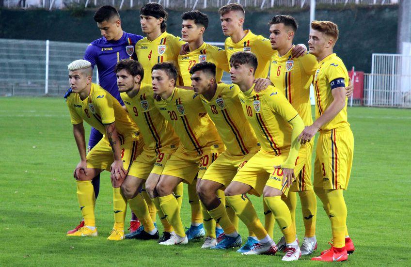 Radu Drăgușin, în tricoul naționalei U21 a României (al doilea din stânga, rândul de sus). Foto: Imago
