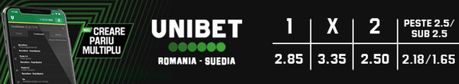 Batem cu 1-0 sau cu 2-0? Cote super-atractive pe Romania - Suedia