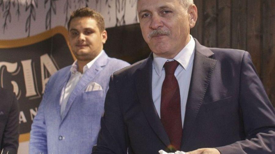 Finanțatorul lui Turris, Valentin Dragnea (stânga), în umbra tatălui său, Liviu Dragnea