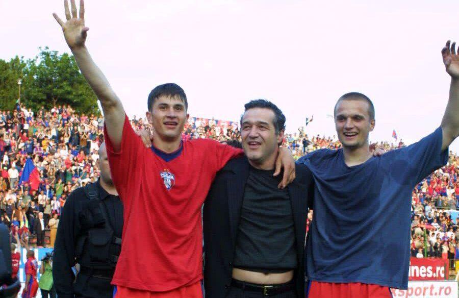 Claudiu Răducanu, Gigi Becali și Erik Lincar, începutul anilor 2000
