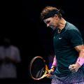 """Rafael Nadal (34 de ani, 2 ATP) l-a învins pe rusul Andrey Rublev (23 de ani, 8 ATP), scor 6-3, 6-4, în grupa """"Londra 2020"""" de la Turneul Campionilor."""