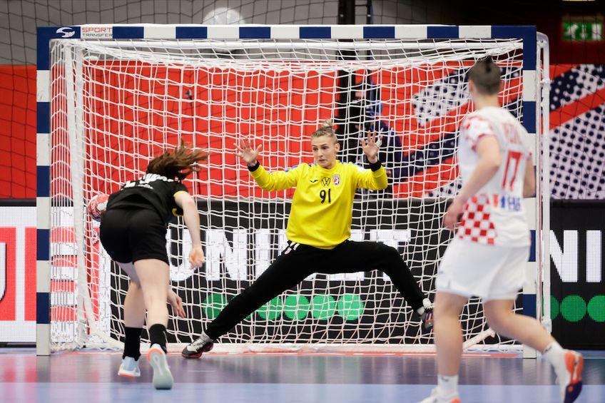 MVP-ul partidei cu Germania, portarul Tea Pijevici FOTO Jozo Cabraja / kolektiffimages