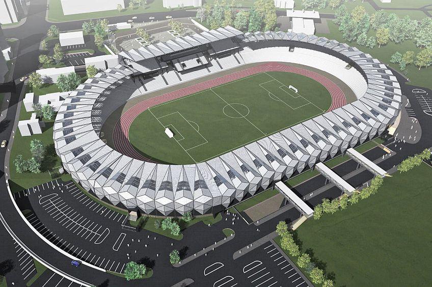 Așa arată proiecul din 2014 pentru stadionul din Bacău. Acesta ar putea fi utilizat pentru construirea noii arene