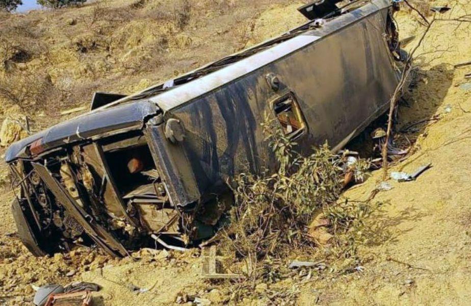Autocarul în care se aflau suporterii ecuadorieni Foto: diariodapb.com.br