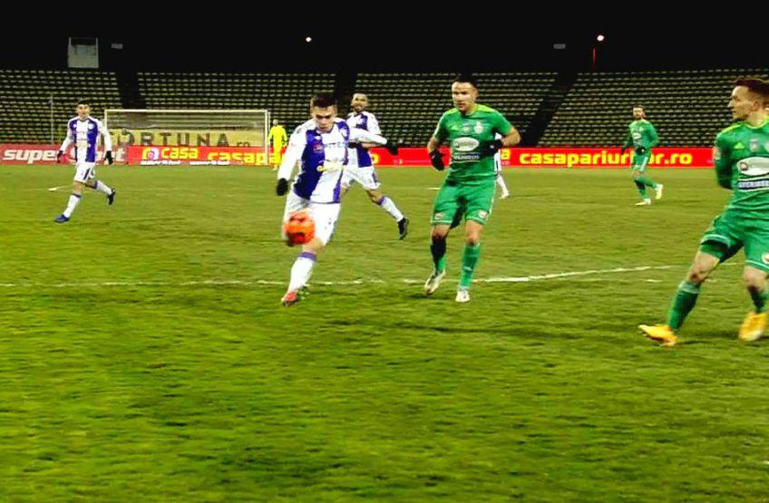 Atacantul Cristian Dumitru (19 ani) a marcat primul gol în Liga 1, în disputa dintre FC Argeș și Sepsi, scor 1-1.
