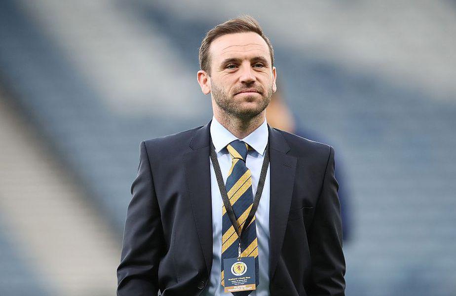 James McFadden, când era antrenorul secund al Scoției // FOTO: Guliver/GettyImages