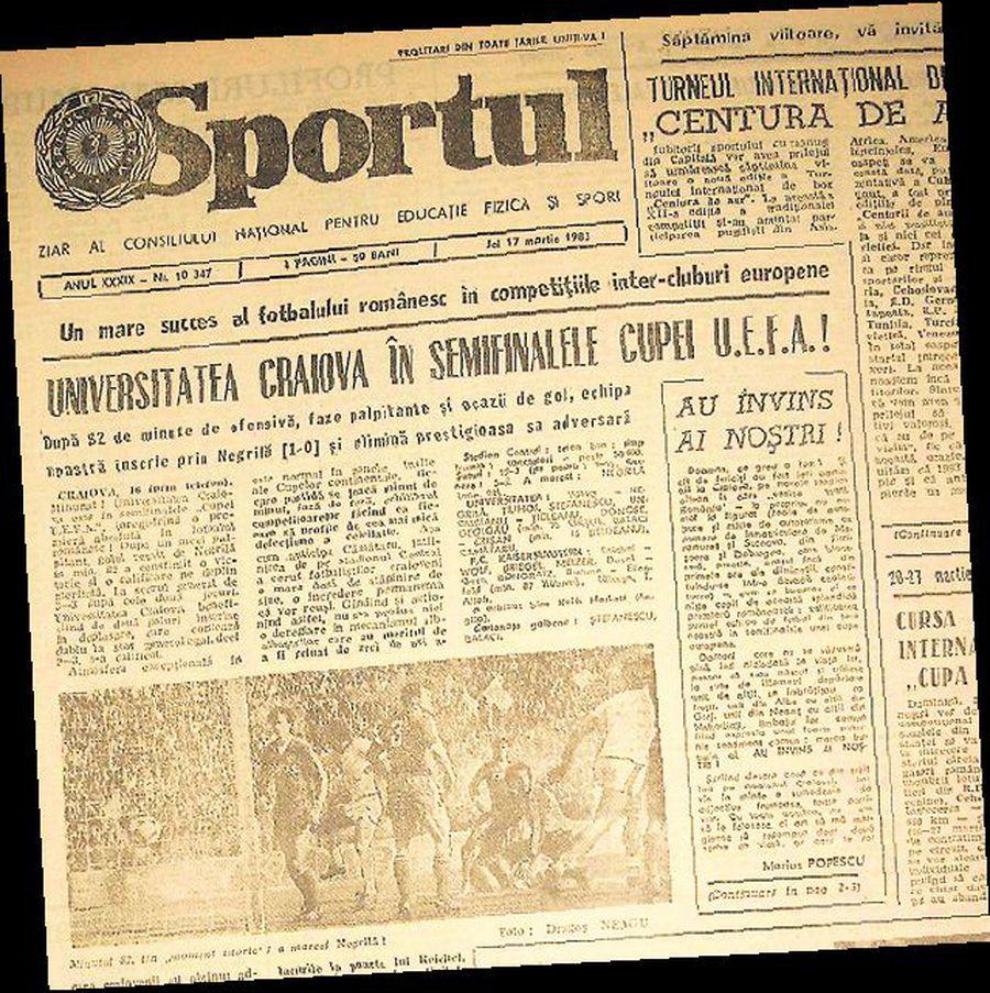 37 de ani de la succesul Craiovei cu Kaiserslautern » Cum au ajuns Negrilă şi Domozină la ora de germană