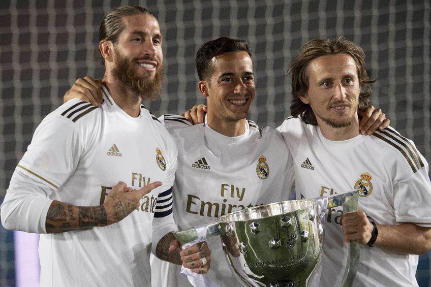 Sergio Ramos, Lucas Vazquez și Luka Modric FOTO Imago