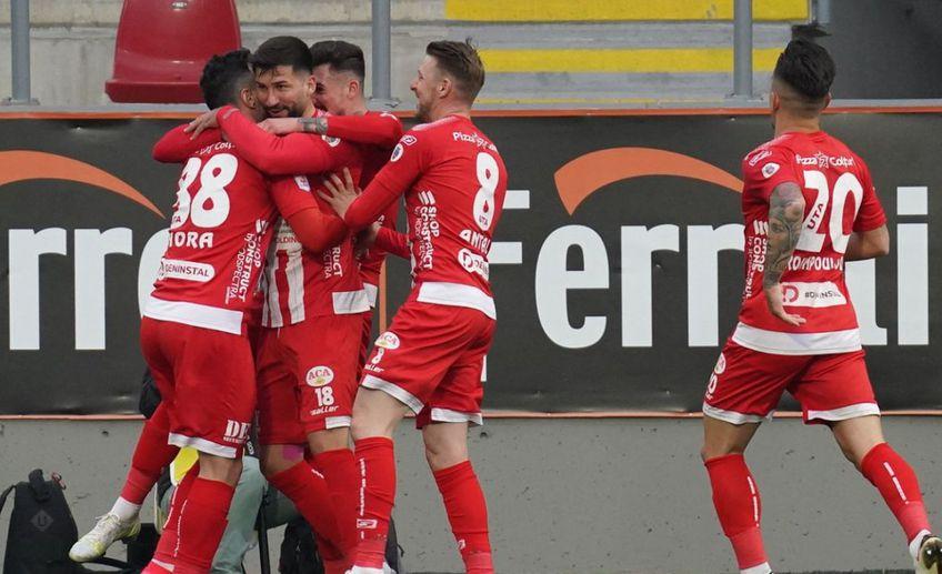 UTA a învins-o pe Viitorul, scor 1-0, în primul meci al play-out-ului din Liga 1. FOTO: Alexandra Fechete