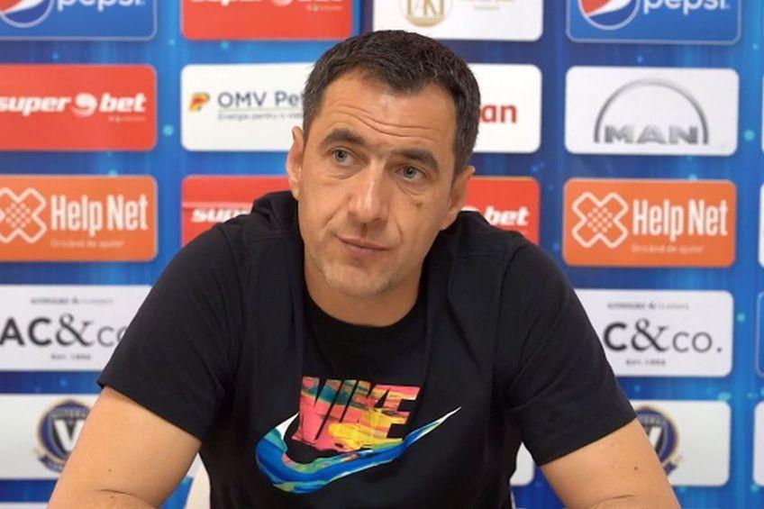 Cătălin Anghel, 46 de ani, noul antrenor principal al Viitorului, este îngrijorat de jocul echipei după încă un eșec, 0-1 cu UTA, în prima rundă din play-out.