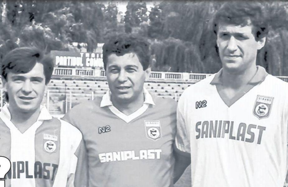 Mircea Lucescu, alături de cei mai prolifici 2 atacanți de la Dinamo din timpul domniei sale: Cămătaru (dreapta) și Mateuț (stânga)
