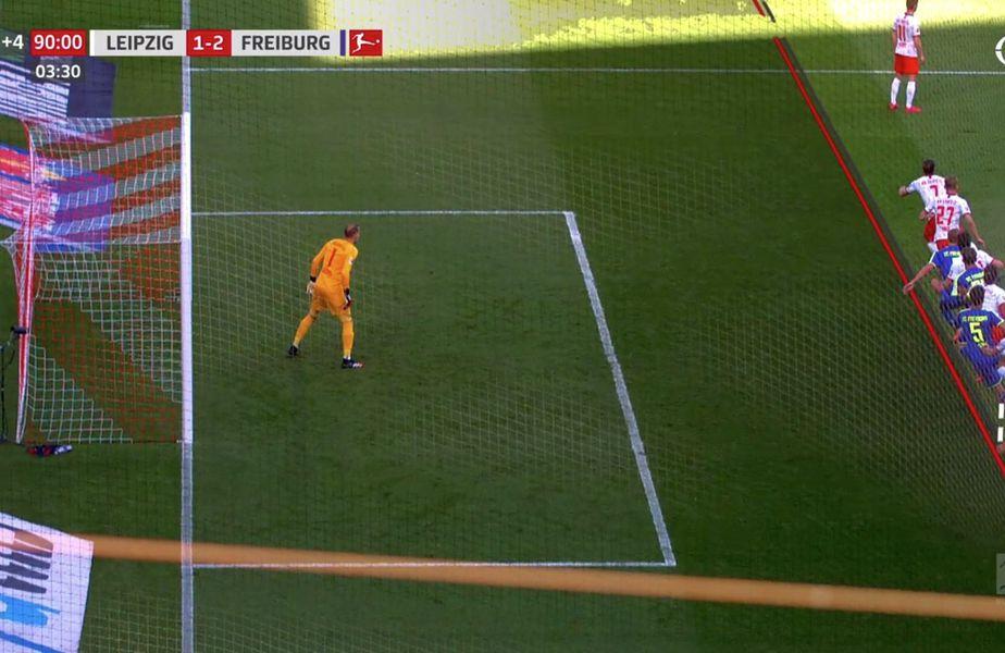 Leipzig - Freiburg 1-1 Captură FOX Sports