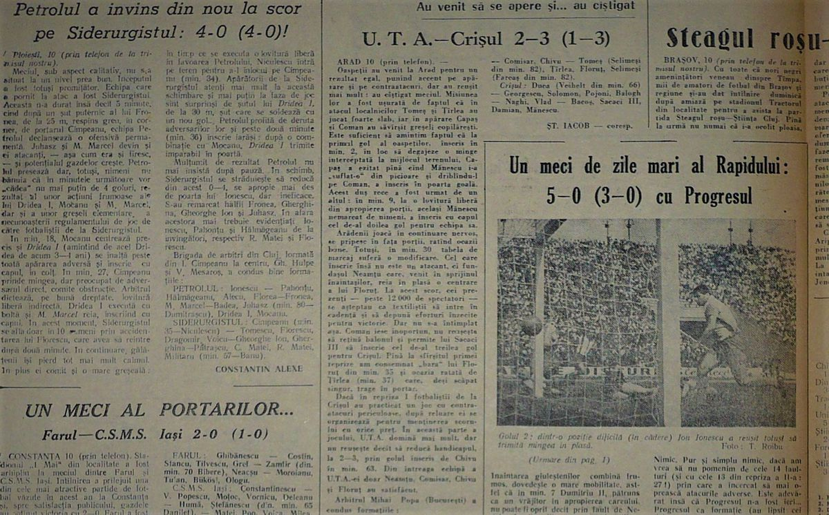 RETRO GSP. 57 de ani de la meciul care a declanșat ura între UTA Arad și Timișoara