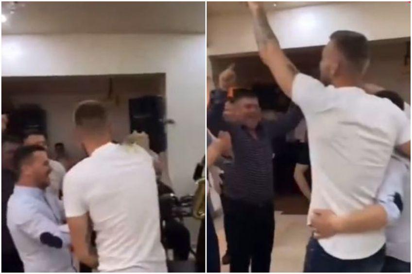 Alexandru Crețu s-a distrat pe cinste la nunta sa // foto: Instagram
