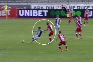 FC Argeș - Dinamo: penalty refuzat gazdelor în prima repriză