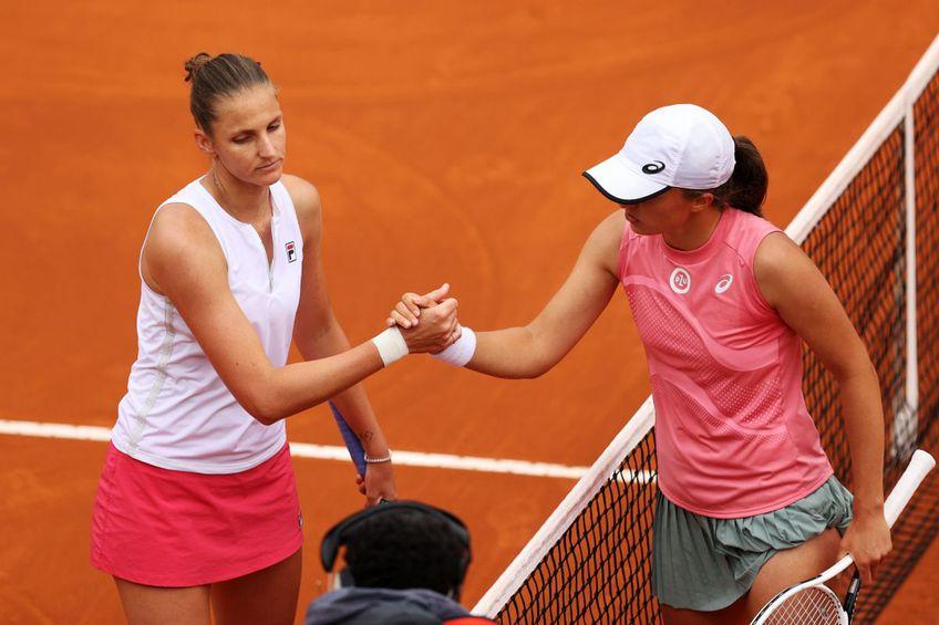 Iga Swiatek a învins-o pe Karolina Pliskova în finala de la Roma. FOTO: Guliver/Getty Images