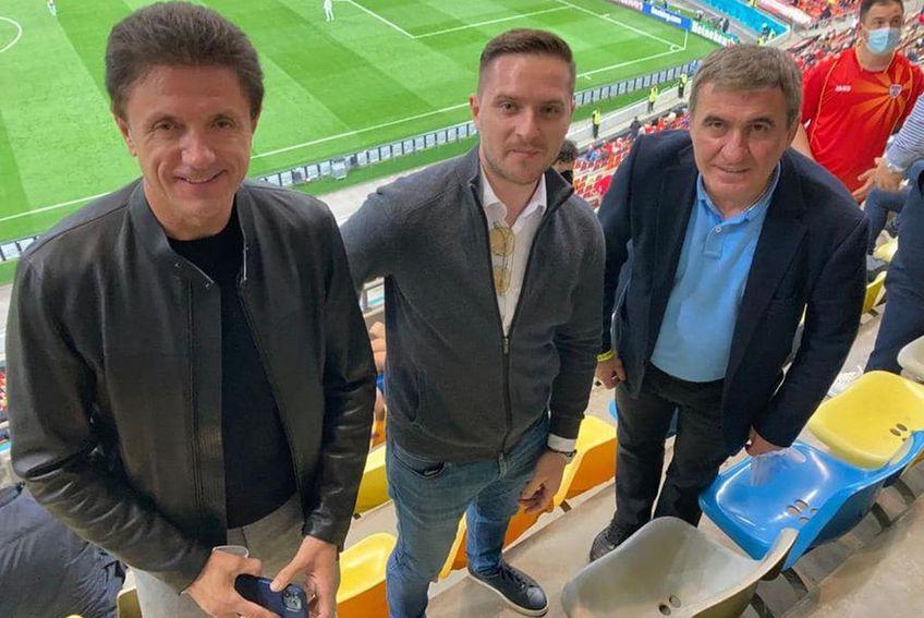 Hagi și Popescu au urmărit meciul dintre Austria și Macedonia de Nord de la tribuna a 2-a