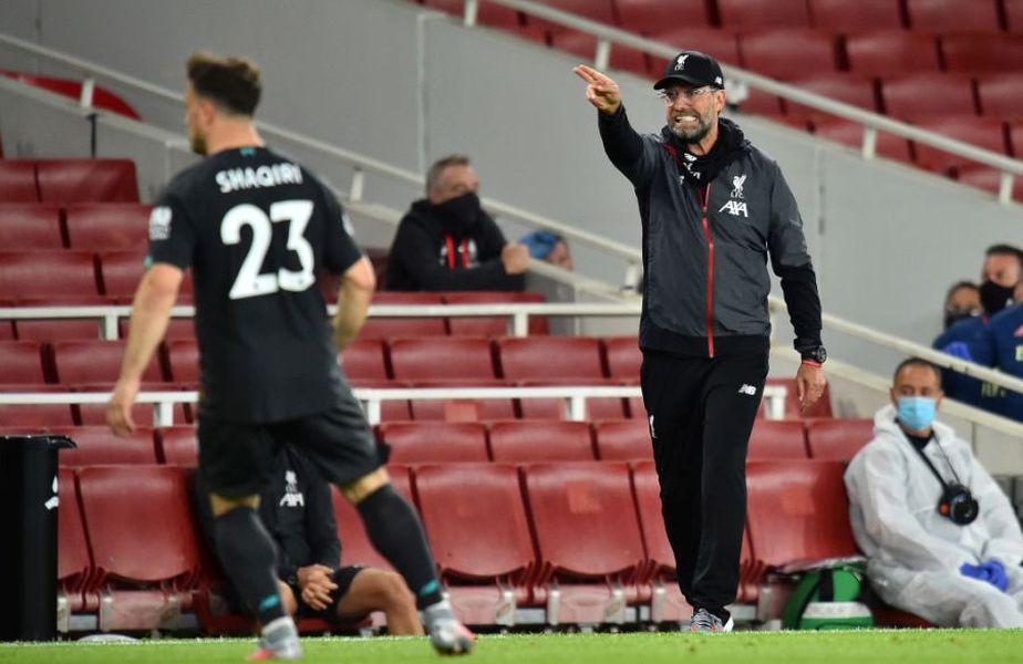 Jurgen Klopp a fost nemulțumit după Arsenal - Liverpool 2-1 // Sursă foto: Getty