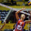 Ana Antonijevic într-un meci al echipei naționale a Sebiei