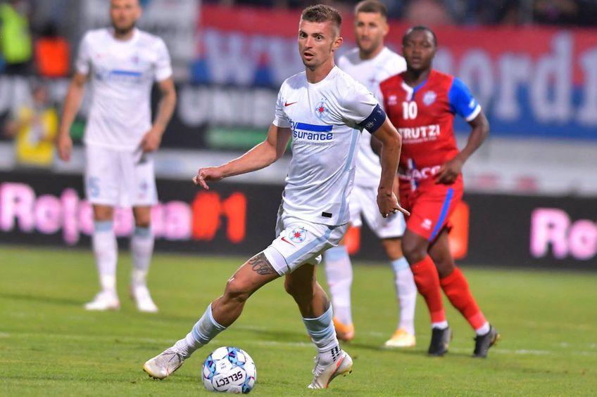 Florin Tănase, în FC Botoșani - FCSB 0-0 // foto: Facebook @ FCSB