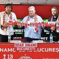 Dario Bonetti (59 de ani) a susținut prima conferință de presă de la revenirea la Dinamo, alături de administratorul special Iuliu Mureșan și de purtătorul de cuvânt DDB, Daniel Șendre