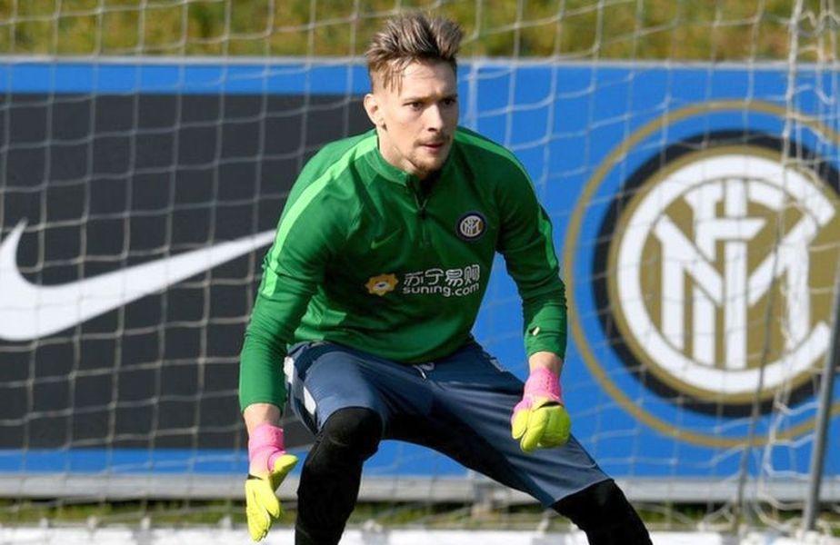 Ionuț Radu, portarul în vârstă de 23 de ani, revenit la Inter după ce a fost împrumutat trei sezoane, a jucat în repriza secundă la 5-0 în amicalul cu Lugano.