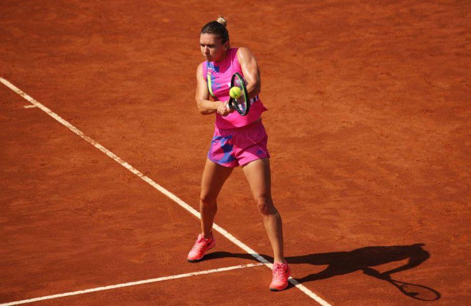 Simona Halep (28 de ani, 2 WTA) a învins-o în turul doi de la WTA Roma pe Jasmine Paolini (24 de ani, 99 WTA), scor 6-3, 6-4