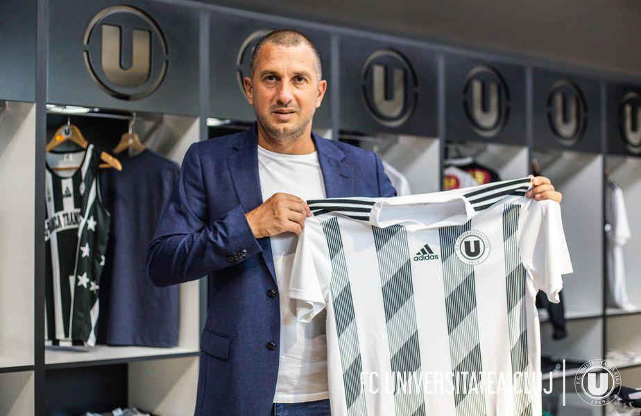 Costel Enache (47 de ani) a fost prezentat oficial la divizionara secundă Universitatea Cluj.