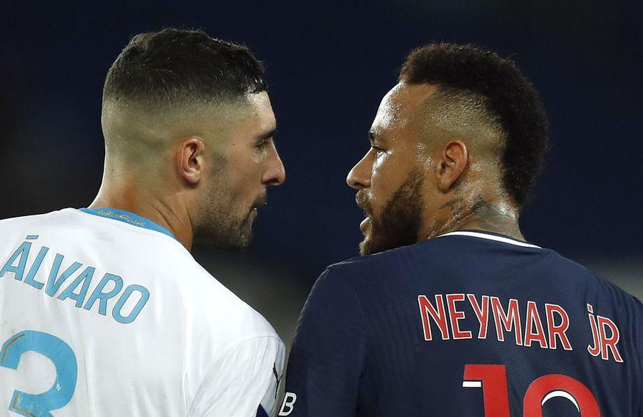 Brazilianul Neymar (28 de ani) a fost suspendat două etape pentru incidentele din derby-ul PSG - Marseille, scor 0-1.