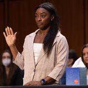 Simone Biles (24 de ani), Aly Raisman (27 de ani) și McKayla Maroney (25 de ani) au apărut și ele în fața comisiei, alături de directorul FBI, Christopher Wray, foto: Imago