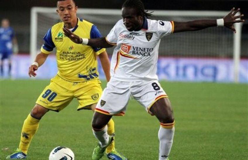 Christian Obodo, în tricoul lui Lecce.