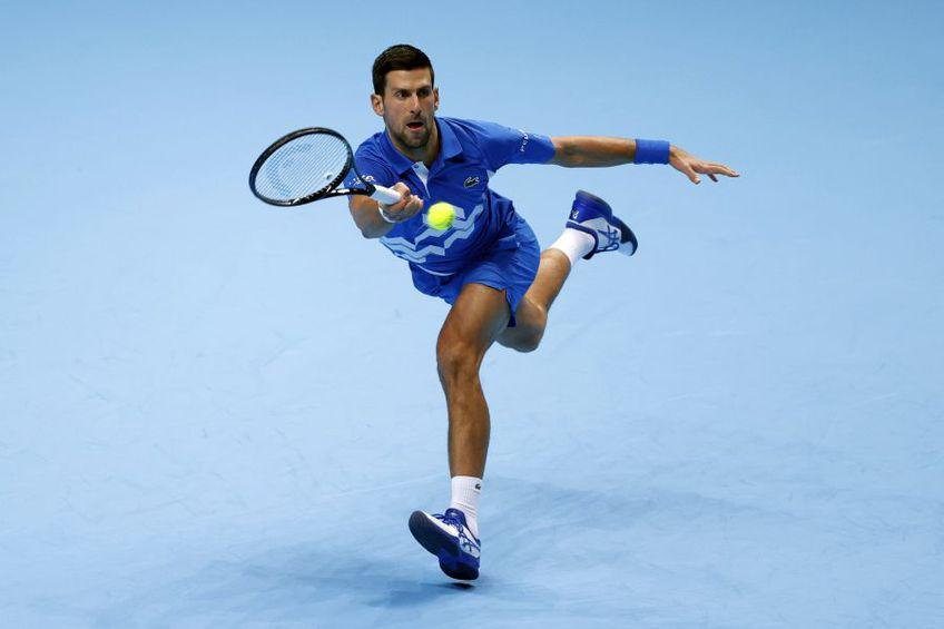 Novak Djokovic, în meciul cu Schwartzman // foto: Guliver/gettyimages